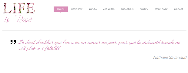 Capture d'écran du site Life is Rose