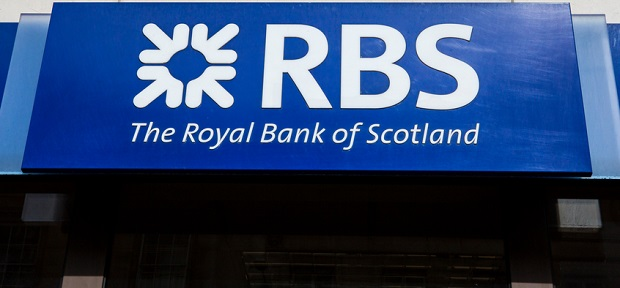 Enseigne de la RBS : Royal Bank of Scotland
