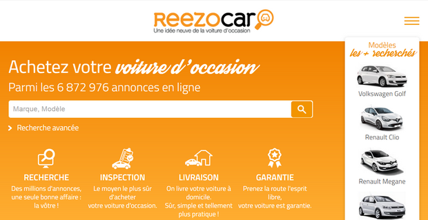 Capture du site Reezocar