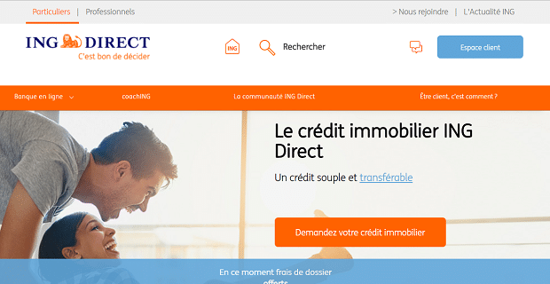 capture du site ING Direct