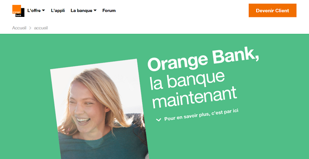 Capture du site Orange bank