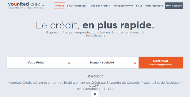 Capture ecran site Younited Credit