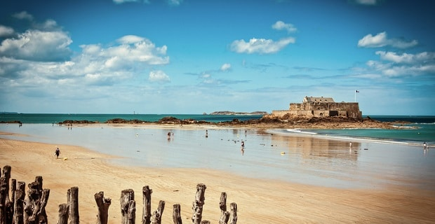 Photo d'une plage de Saint-Malo