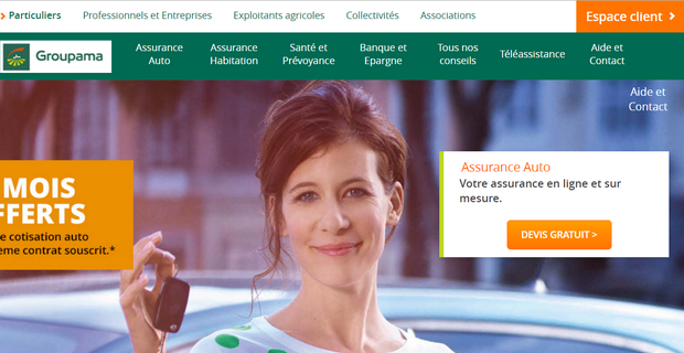 Capture du site Groupama