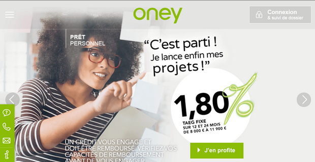 Capture du site Oney
