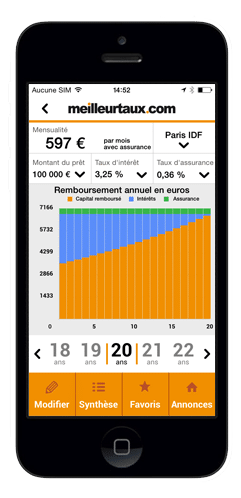 credit immobilier simulation de pret l application iphone meilleurtaux